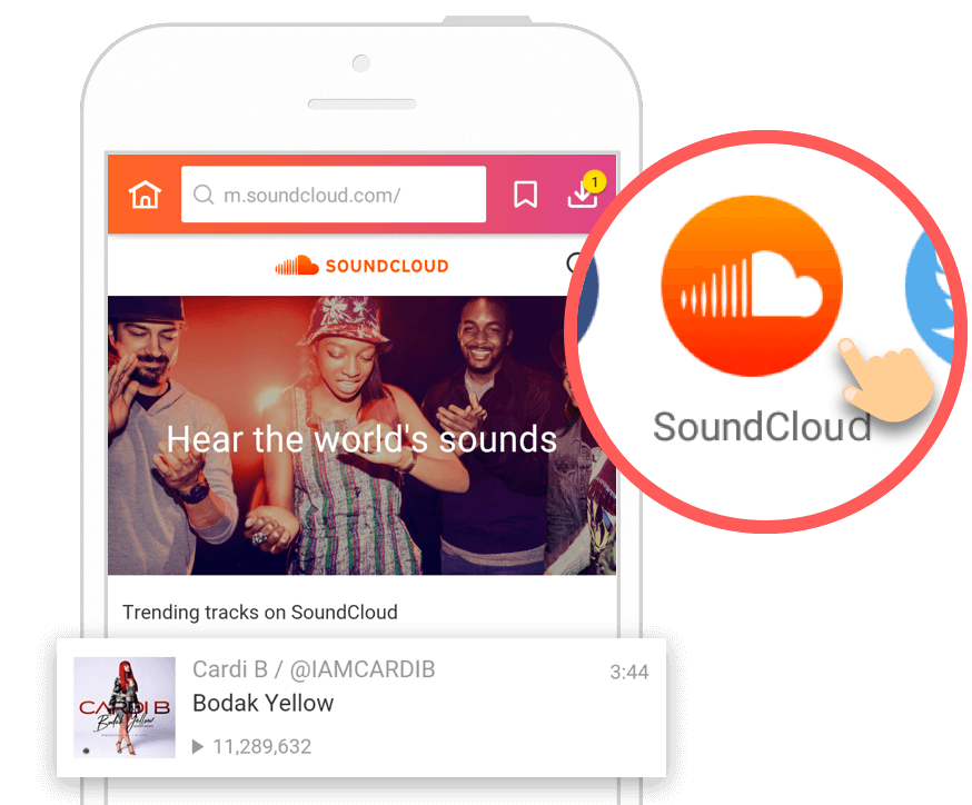 How to Download Music from SoundCloud - InsTube